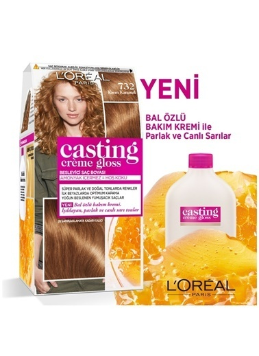 L'Oréal Paris L'Oréal Paris Casting Crème Gloss Saç Boyası - 732 Krem Karamel Renksiz